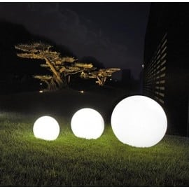 Zestaw Lampy Ogrodowe Kule - Luna Balls 20,25,30 cm + Żarówki Led small 3