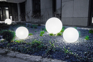 Dekoracyjne Lampy Kule Ogrodowe - Luna Balls 20,30,40cm + Żarówki LED small 6