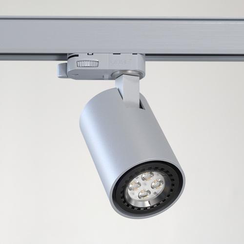 GABI L6Th projektor track max. 1x50W, GU10, 230V, srebrny aluminiowy (mat struktura) RAL 9006