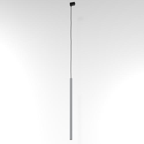 NER 400 wisząca track, max. 1x2,5W, G9, 230V, przewód czarny, srebrny aluminiowy (mat struktura) RAL 9006