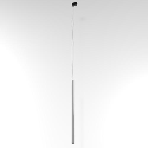 NER 400 wisząca track, max. 1x2,5W, G9, 230V, przewód czarny, srebrny aluminiowy (połysk) RAL 9006
