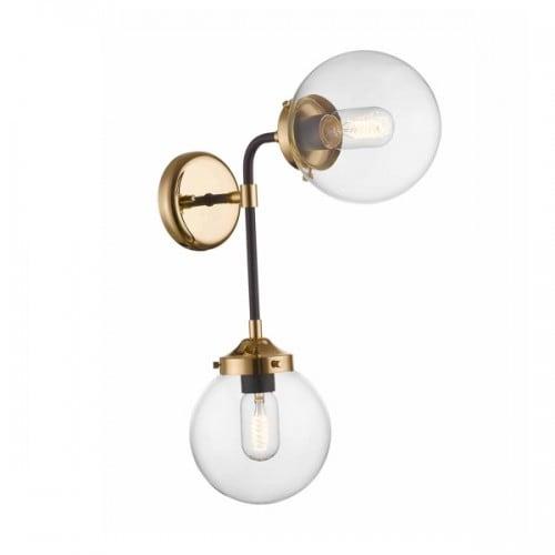 LAMPA WEWNĘTRZNA (KINKIET) ZUMA LINE RIANO WALL W0454-02D-SDAC
