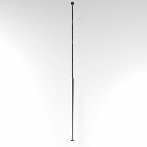 NER 500 wisząca max. 1x2,5W, G9, 230V, przewód czarny, kolor srebra (gładki mat)