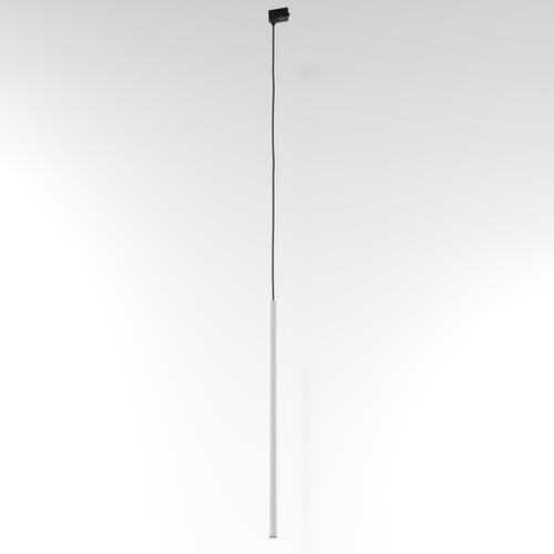 NER 500 wisząca track, max. 1x2,5W, G9, 230V, przewód czarny, biały  (mat struktura) RAL 9003