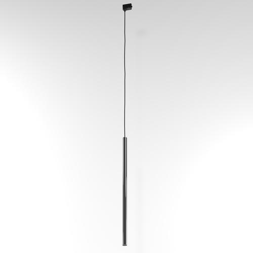 NER 500 wisząca track, max. 1x2,5W, G9, 230V, przewód czarny, szary grafitowy (połysk) RAL 7024