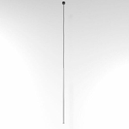 NER 550 wisząca max. 1x2,5W, G9, 230V, przewód czarny, biały  (połysk) RAL 9003