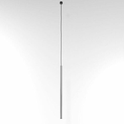NER 550 wisząca max. 1x2,5W, G9, 230V, przewód czarny, srebrny aluminiowy (połysk) RAL 9006