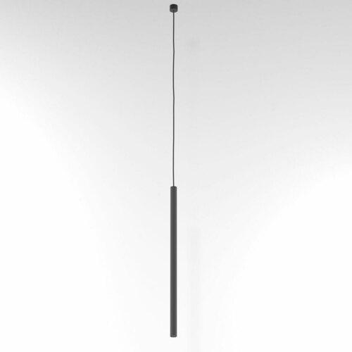 NER 550 wisząca max. 1x2,5W, G9, 230V, przewód czarny, szary grafitowy (mat) RAL 7024