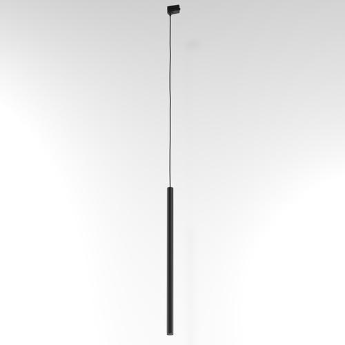 NER 550 wisząca track, max. 1x2,5W, G9, 230V, przewód czarny, czarny (mat) RAL 9017