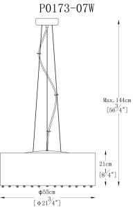 LAMPA WEWNĘTRZNA (WISZĄCA) ZUMA LINE BLINK PENDANT P0173-07W small 1