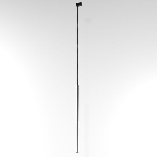 NER 600 wisząca track, max. 1x2,5W, G9, 230V, przewód czarny, kolor srebra (gładki mat)