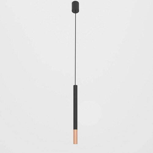 NERON 450 wisząca max. 1x2,5W, G9, 230V, przewód czarny, kolor miedzi (gładki mat), czarny (mat) RAL 9017
