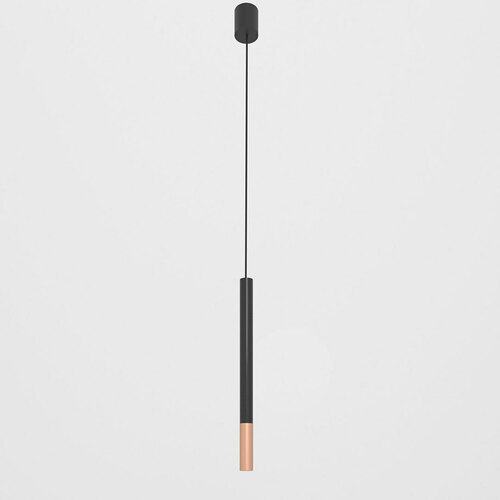 NERON 500 wisząca max. 1x2,5W, G9, 230V, przewód czarny, kolor miedzi (gładki mat), czarny głęboki (połysk) RAL 9005