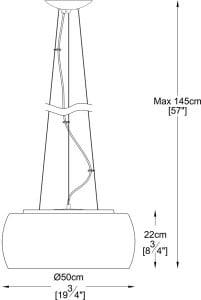 LAMPA WEWNĘTRZNA (WISZĄCA) ZUMA LINE CRYSTAL PENDANT P0076-06X-F4FZ small 2