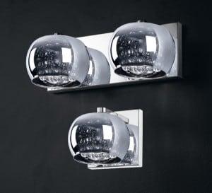 LAMPA WEWNĘTRZNA (KINKIET) ZUMA LINE CRYSTAL WALL W0076-02A-B5FZ small 1