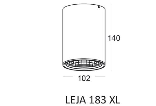 Sufitowa lampa hermetyczna LEJA 183 XL