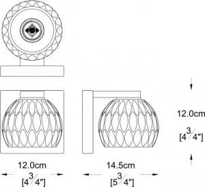 LAMPA WEWNĘTRZNA (KINKIET) ZUMA LINE AURELIA WALL W0404-01A-B5AC small 1