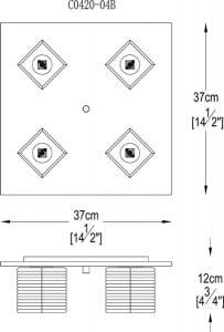 LAMPA WEWNĘTRZNA (SUFITOWA) ZUMA LINE LAURA CEILING C0420-04B-B5AC small 2
