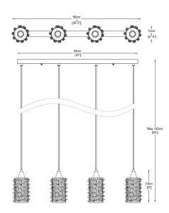 LAMPA WEWNĘTRZNA (WISZĄCA) ZUMA LINE GIANNA PENDANT P0386-04A-B5AC small 1