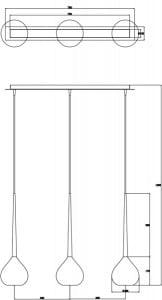 LAMPA WEWNĘTRZNA (WISZĄCA) ZUMA LINE LIBRA PENDANT MD2128B-3W (white) small 1