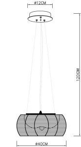 LAMPA WEWNĘTRZNA (WISZĄCA) ZUMA LINE TANGO PENDANT MD1104-2 (silver) - Srebrny small 1