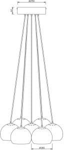 LAMPA WEWNĘTRZNA (WISZĄCA) ZUMA LINE SPHERES PENDANT TS-062127P-CH (chrome) - Chrom small 2