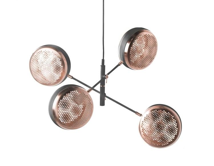 LAMPA WEWNĘTRZNA (WISZĄCA) ZUMA LINE HIVE PENDANT PL-16053-BK+BRCP