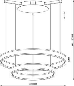 LAMPA WEWNĘTRZNA (WISZĄCA) ZUMA LINE CIRCLE PENDANT L-CD-136 small 1