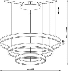 LAMPA WEWNĘTRZNA (WISZĄCA) ZUMA LINE CIRCLE PENDANT L-CD-690 small 1