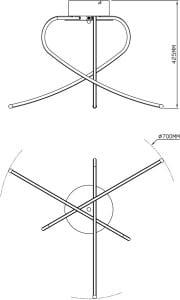 LAMPA WEWNĘTRZNA (SUFITOWA) ZUMA LINE CARRELLO CEILING PL1100014-3 small 1