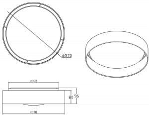 LAMPA WEWNĘTRZNA (SUFITOWA) ZUMA LINE ADEM CEILING E9371-37-LED-BL (black) small 1