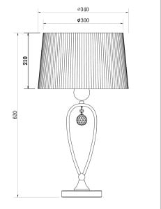 LAMPA WEWNĘTRZNA (STOŁOWA) ZUMA LINE BELLO TABLE RLT93224-1A small 2