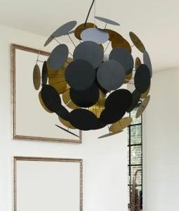 Lampa Wisząca Sufitowa Dots Pendant Czarno złota small 1