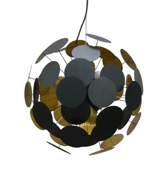 Lampa Wisząca Sufitowa Dots Pendant Czarno złota