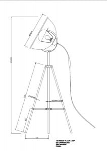 LAMPA WEWNĘTRZNA (PODŁOGOWA) ZUMA LINE ANTENNE FLOOR TS-090522F-WHSI (BIAŁY/WHITE) small 2