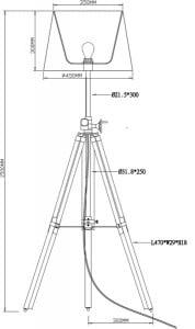 LAMPA WEWNĘTRZNA (PODŁOGOWA) ZUMA LINE SEVILLE FLOOR TS-062909F-BR (black) small 2