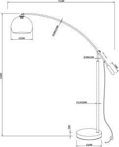 LAMPA WEWNĘTRZNA (PODŁOGOWA) ZUMA LINE MANHATTAN FLOOR TS-061121M small 1