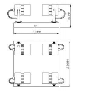 LAMPA WEWNĘTRZNA (SUFITOWA) ZUMA LINE SICA CEILING CK99892-4 small 1