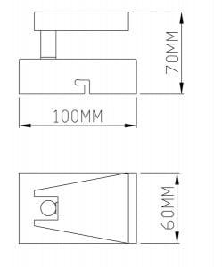 LAMPA WEWNĘTRZNA (KINKIET) ZUMA LINE SPAZIO SPOT CK99603A-1 small 1
