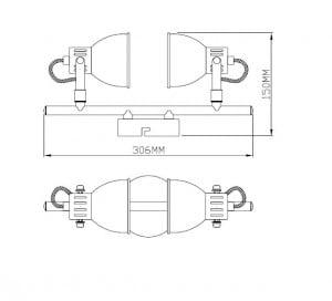 LAMPA WEWNĘTRZNA (SUFITOWE) ZUMA LINE RAVA CEILING TK100008-2 small 1
