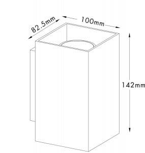 LAMPA WEWNĘTRZNA (KINKIET) ZUMA LINE SANDY WL SQUARE WALL 92698 BLACK small 1
