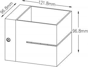 LAMPA WEWNĘTRZNA (SPOT) ZUMA LINE TRANSFER WL 2 91067 (black) small 1