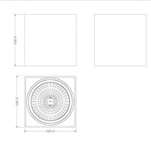 LAMPA WEWNĘTRZNA (SPOT) ZUMA LINE BOX SL1 SPOT 90432 (black) small 1