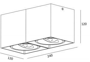LAMPA WEWNĘTRZNA (SPOT) ZUMA LINE BOX SL 2 SPOT 89949 (white) small 1