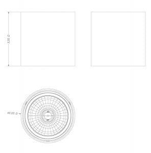 LAMPA WEWNĘTRZNA (SPOT) ZUMA LINE BOX SPOT 50630 (black) small 1
