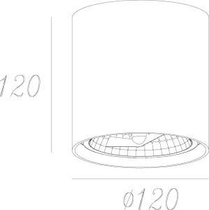 LAMPA WEWNĘTRZNA (SPOT) ZUMA LINE BOX SPOT 50630 (black) small 2