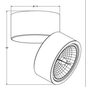 LAMPA WEWNĘTRZNA (KINKIET) ZUMA LINE LOMO CL1 20001-BK (black) small 1