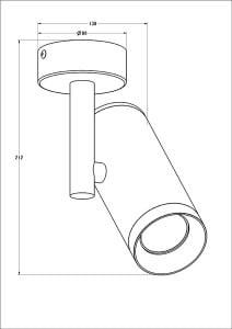LAMPA WEWNĘTRZNA (KINKIET) ZUMA LINE TORI SL 2 20015-BK (black) small 1