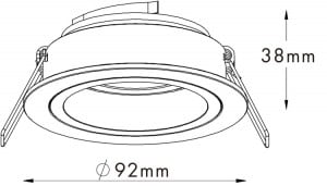 LAMPA WEWNĘTRZNA (SPOT) ZUMA LINE CHUCK DL ROUND 92702 (black/gold) small 1