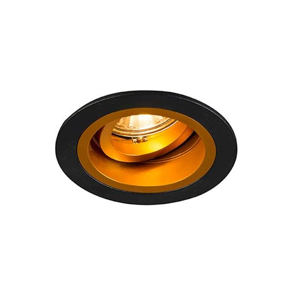 LAMPA WEWNĘTRZNA (SPOT) ZUMA LINE CHUCK DL ROUND 92702 (black/gold)
